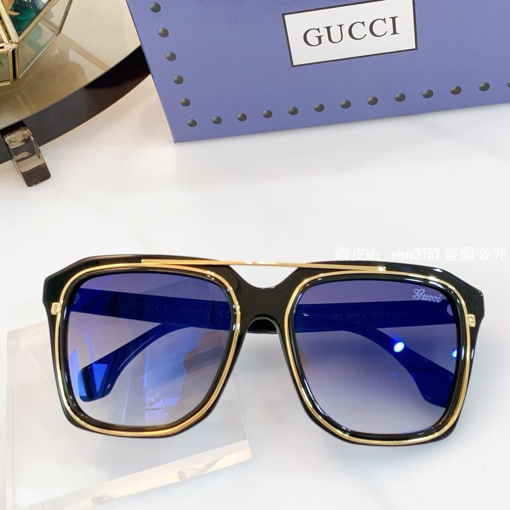 gg 古奇 女生眼鏡 2021新款 GG0865S 方框墨鏡 偏光太陽眼鏡 粉色 黑色 開車墨鏡