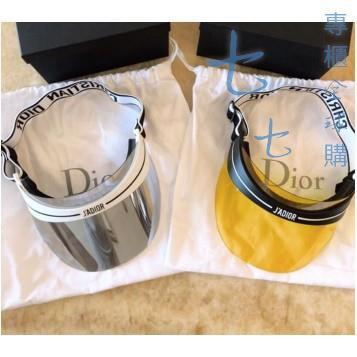 全新 真品【Dior 】白邊遮陽帽