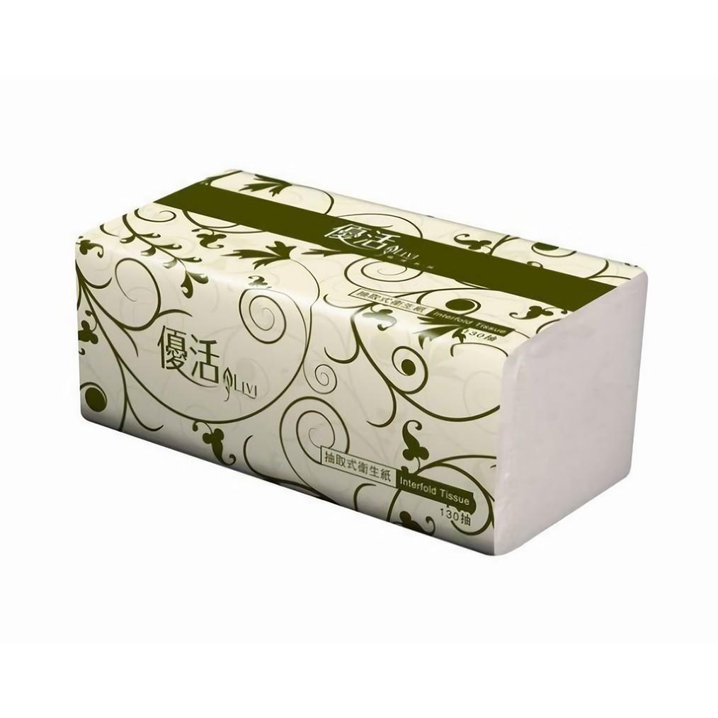 優活抽取式衛生紙(130抽/6包/12袋/箱)