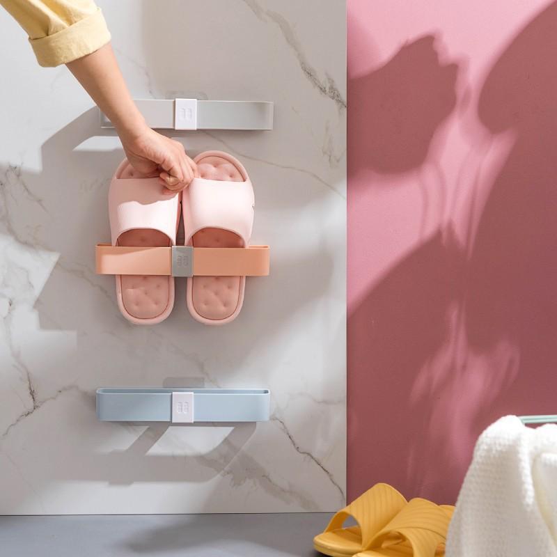 家居新品浴室拖鞋架壁掛式廁所鞋子收納神器衛生間免打孔鞋架洗手間置物架