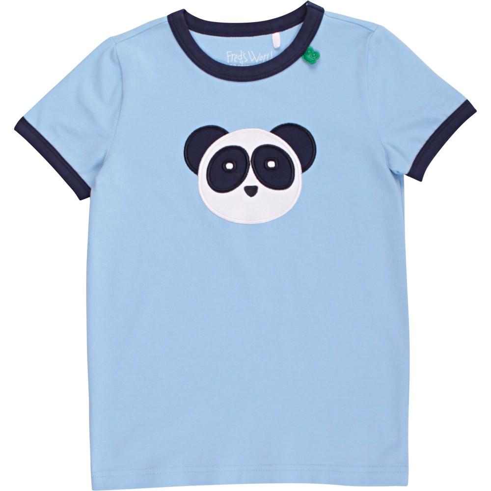 丹麥 Fred's World 水藍熊貓臉短袖上衣 104cm 110cm 128cm