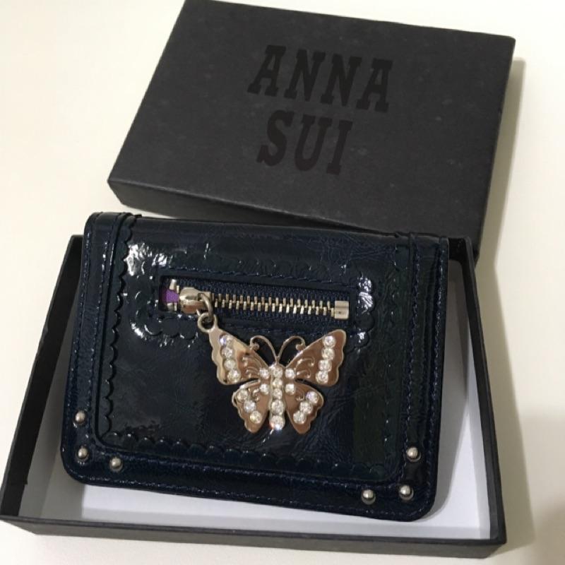 Anna Sui 安娜蘇 卡夾 零錢 照片 短夾 日本帶回 全新 可議