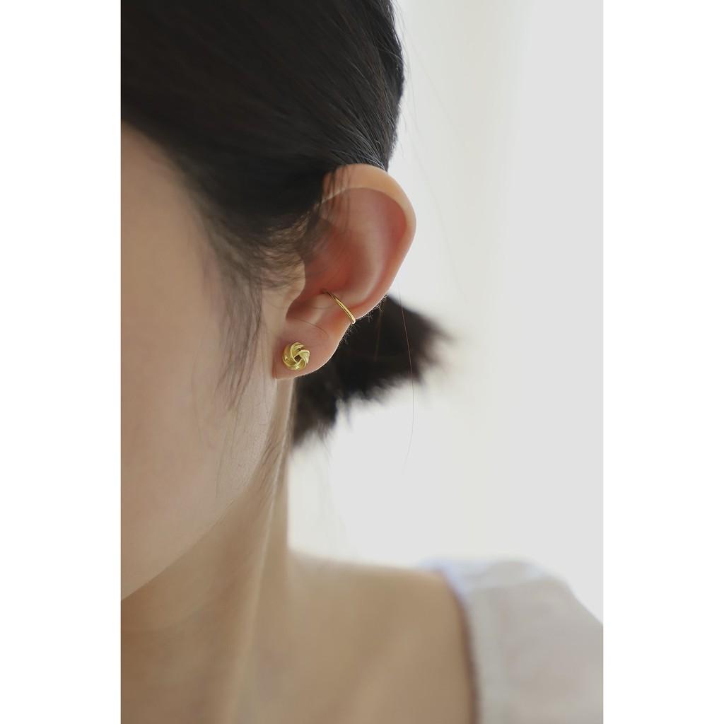 這件飾:: 全現貨賣場 - 925銀『花捲(金/銀)』 純銀耳環 極簡 基礎款 純銀 飾品 耳環