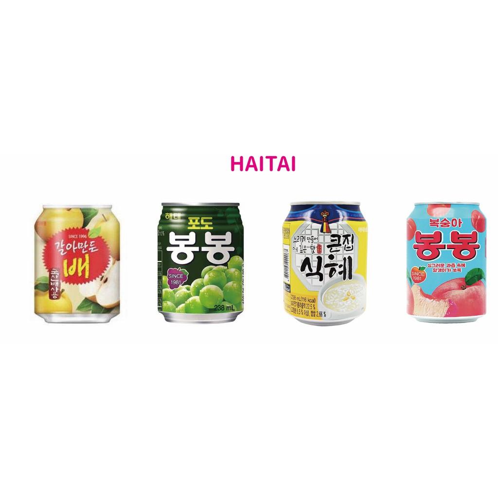 ▌黑門 ▌韓國進口 Haitai 海太果汁 葡萄汁 水蜜桃汁 水梨汁 甜米釀