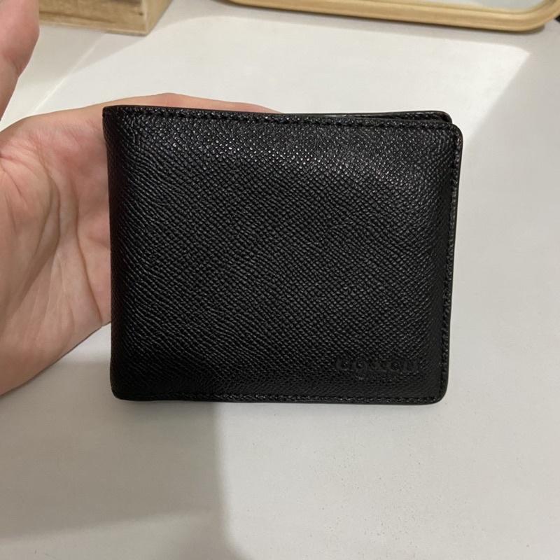 COACH 男士皮夾/耐刮基本款經典耐看/可拆卸式證件夾/三合一皮夾/中夾短夾
