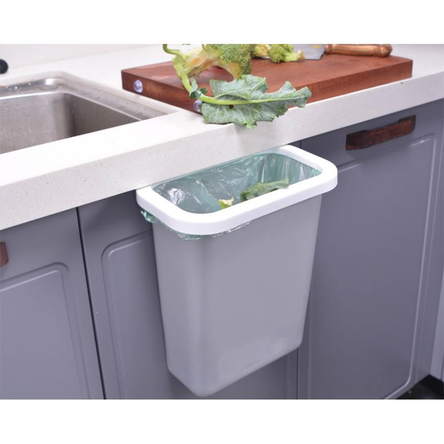 廚房 挂式垃圾桶 台W面櫥櫃門懸挂式家用H北歐風無蓋客廳廁所 垃圾筒