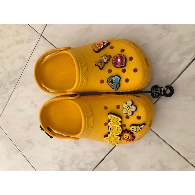 全新CROCS X DREW HOUSE Justin Bieber 聯名款 女款拖鞋  歐碼 37-38