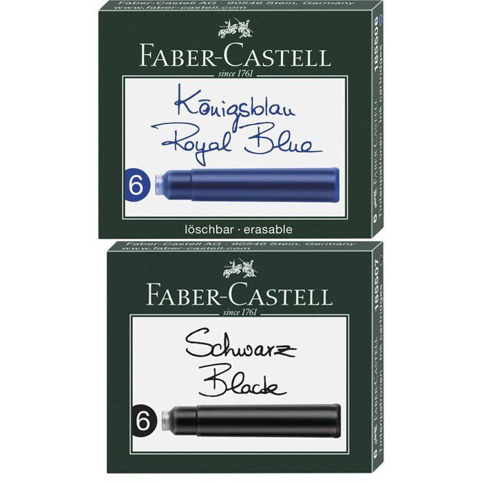 德國 輝柏 Faber-Castell 歐規卡式墨水管/卡水-6支裝 配件【長益鋼筆】