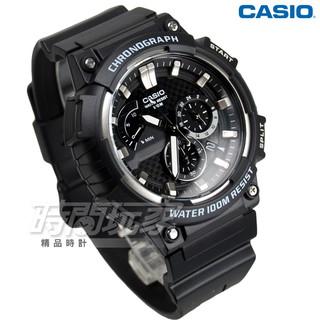 CASIO卡西歐 MCW-200H-1A 計時碼錶 三眼指針運動錶 學生錶 防水手錶 男錶 灰x黑【時間玩家】 新北市