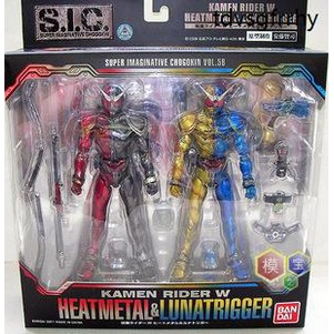 正版日本手辦熱血玩具模型手辦假面騎士W SIC Metal Heat Luna Trigger 58
