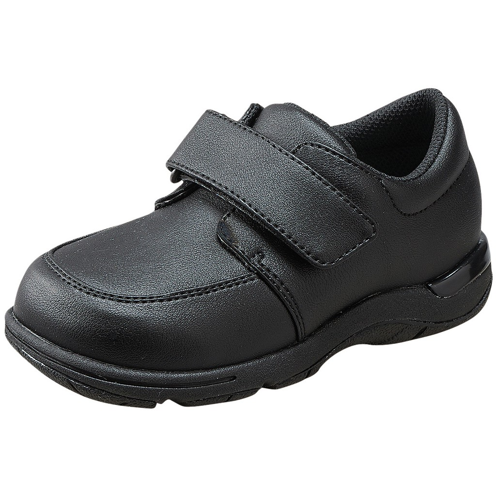【艾莉絲童鞋】MoonStar日本月星機能學用鞋-全黑皮鞋(CRC20876)