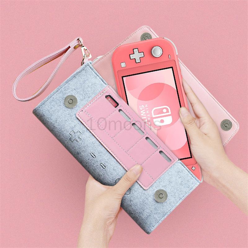 皮革毛氈收納袋保護袋, 用於 Ns V1 V2 Nintendo Switch / Lite Nintendo Swit