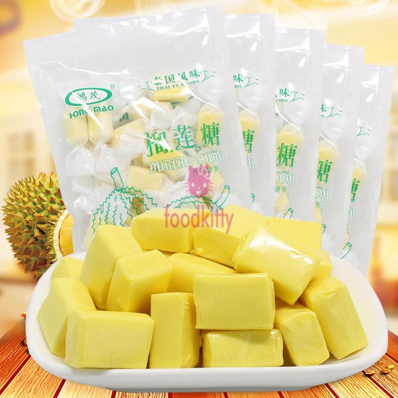 鴻茂榴蓮糖 120g/包 泰國風味 水果牛奶軟糖 網紅零食糖果