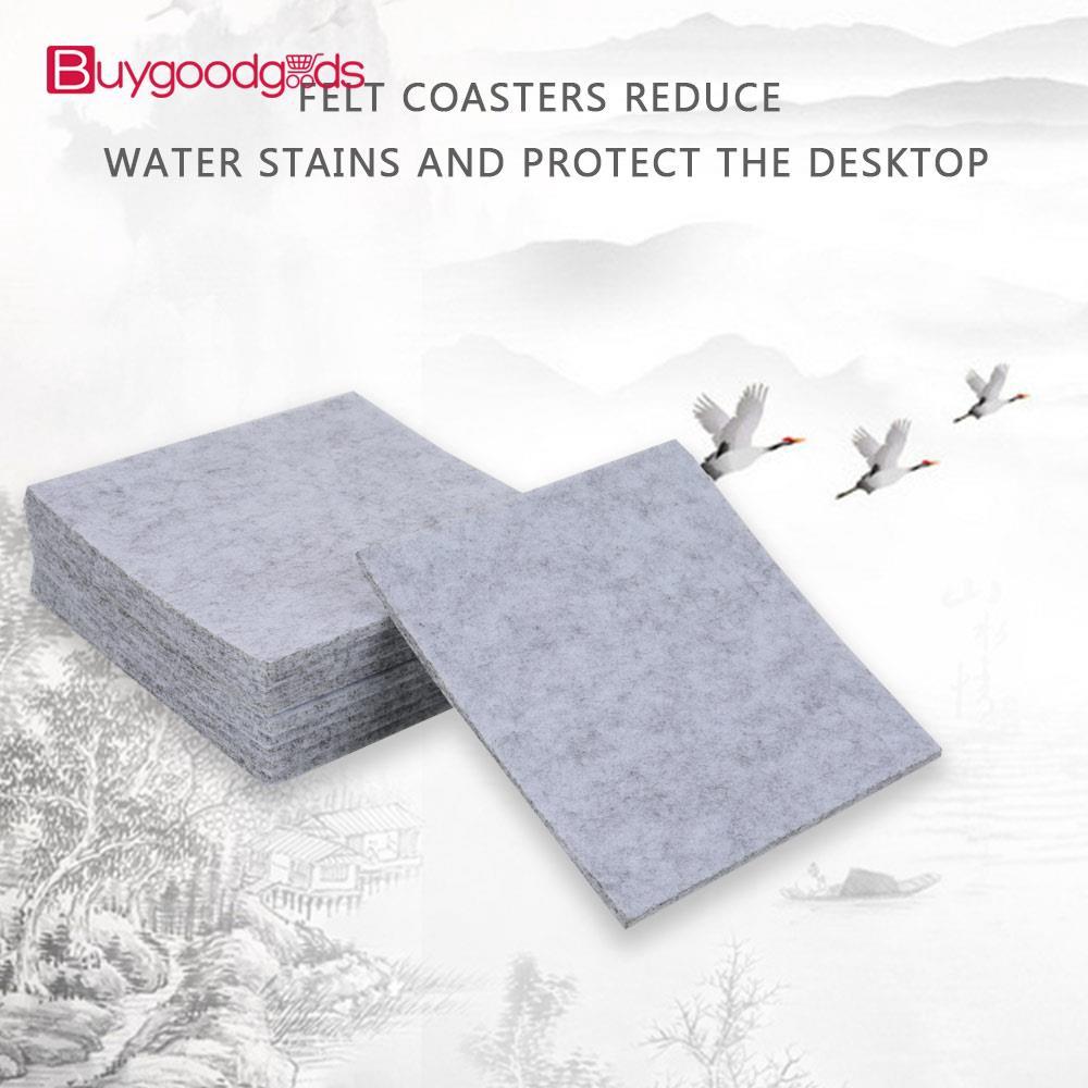 Bgg保溫杯墊Filzuntersetzer方形矽藻土杯墊家用飲料高級吸水