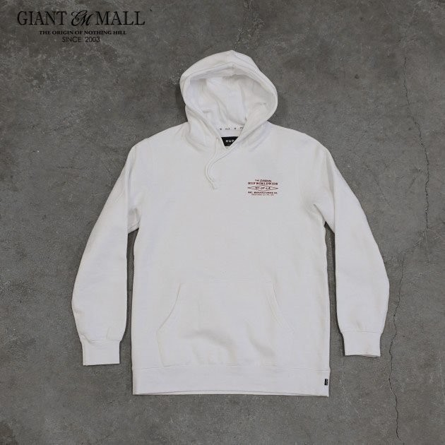 HUF HERITAGE PULLOVER 帽T 白/灰/藍色【 GIANT MALL 】