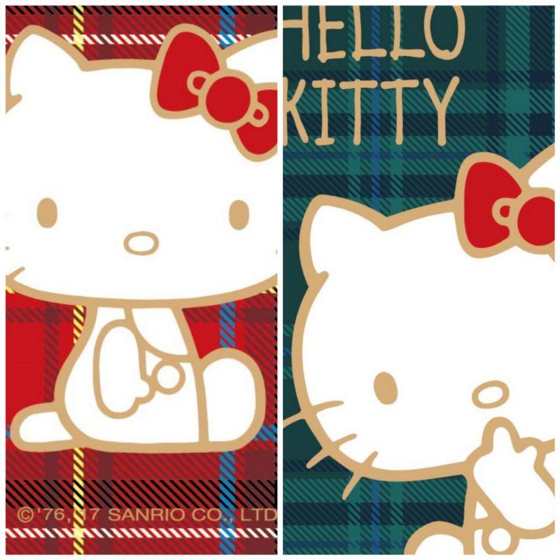 hello kitty 格紋悠遊卡一套2張(絕版品)