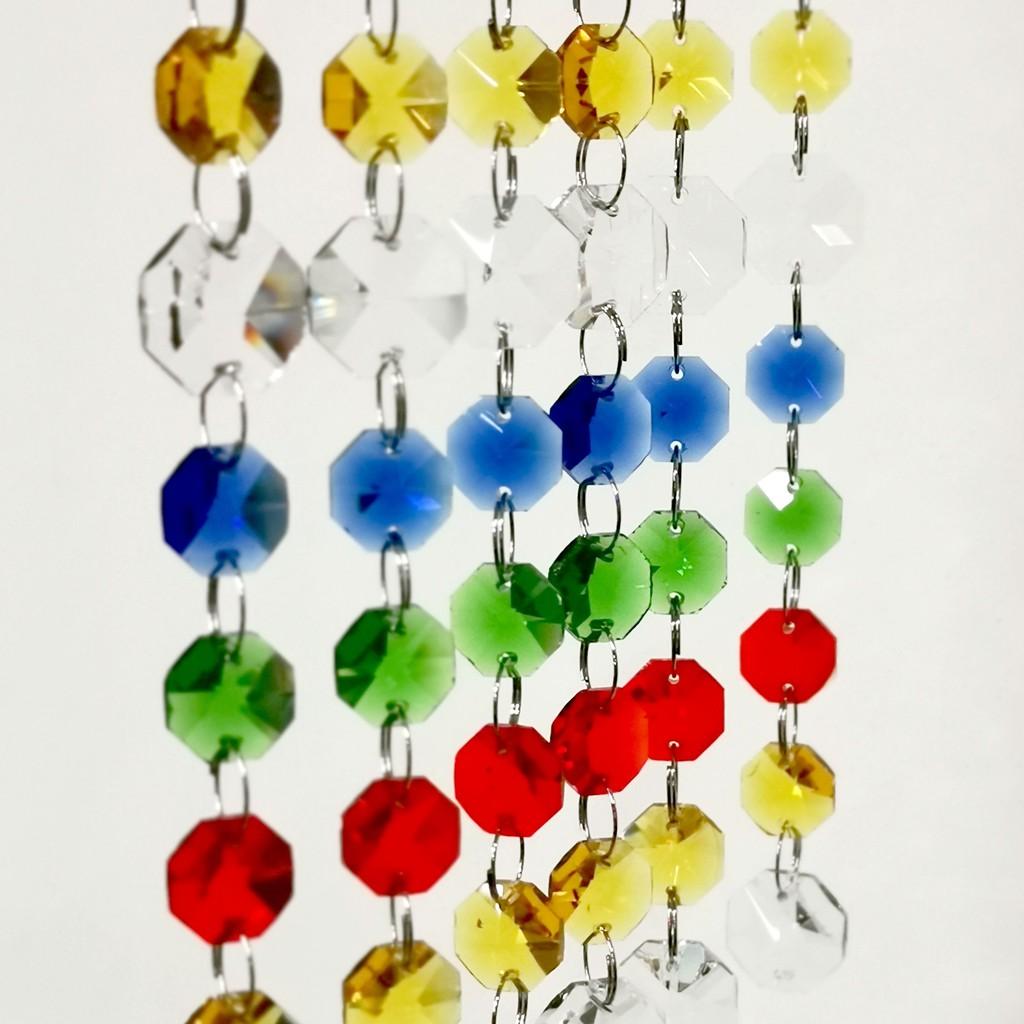 [五行水晶珠串][D002] diy水晶簾 五行水晶珠串可折組 水晶隔屏配件 風水水晶珠簾diy