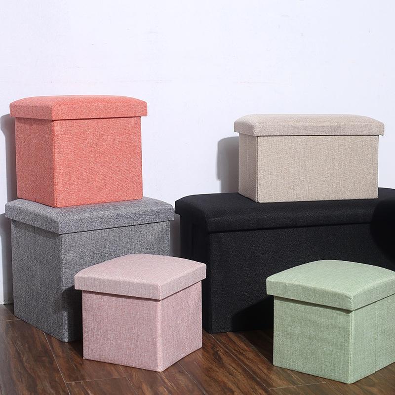 特價清倉🎇多功能摺疊收納椅 小方形 黑色灰色摺疊收納椅 收納凳 儲物箱 收納椅 折疊椅 小凳子 長方形 收納箱