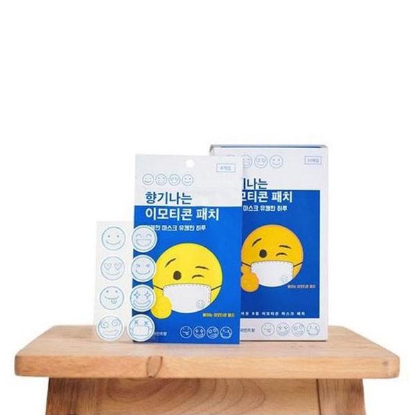 NXS 韓國口罩香氛貼 口罩貼紙 香味 芳香 薄荷 笑臉 微笑 正韓 韓國製造 網紅 可愛 大人小孩 防疫