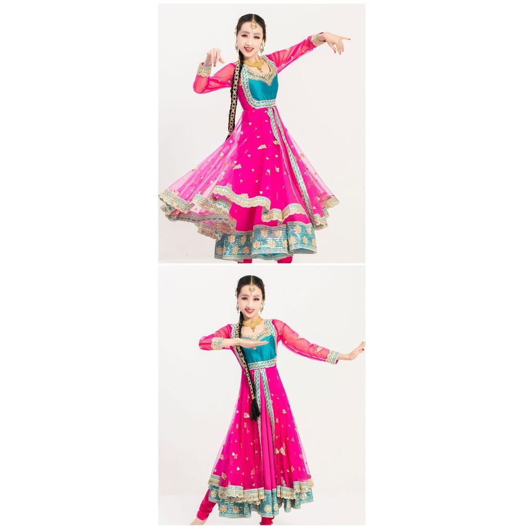 ANCLEAR 安晴 #A650連身大擺裙+紗巾 +褲子 印度舞表演服