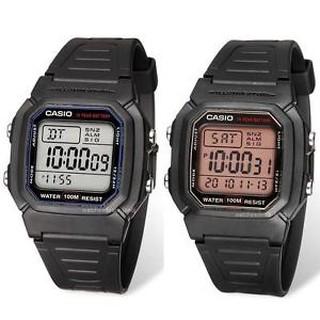 卡西歐CASIO腕錶經典造型之一W-800H-1A.W-800HG-9AVDF 防水100M 十年電力當兵/ 學生 桃園市