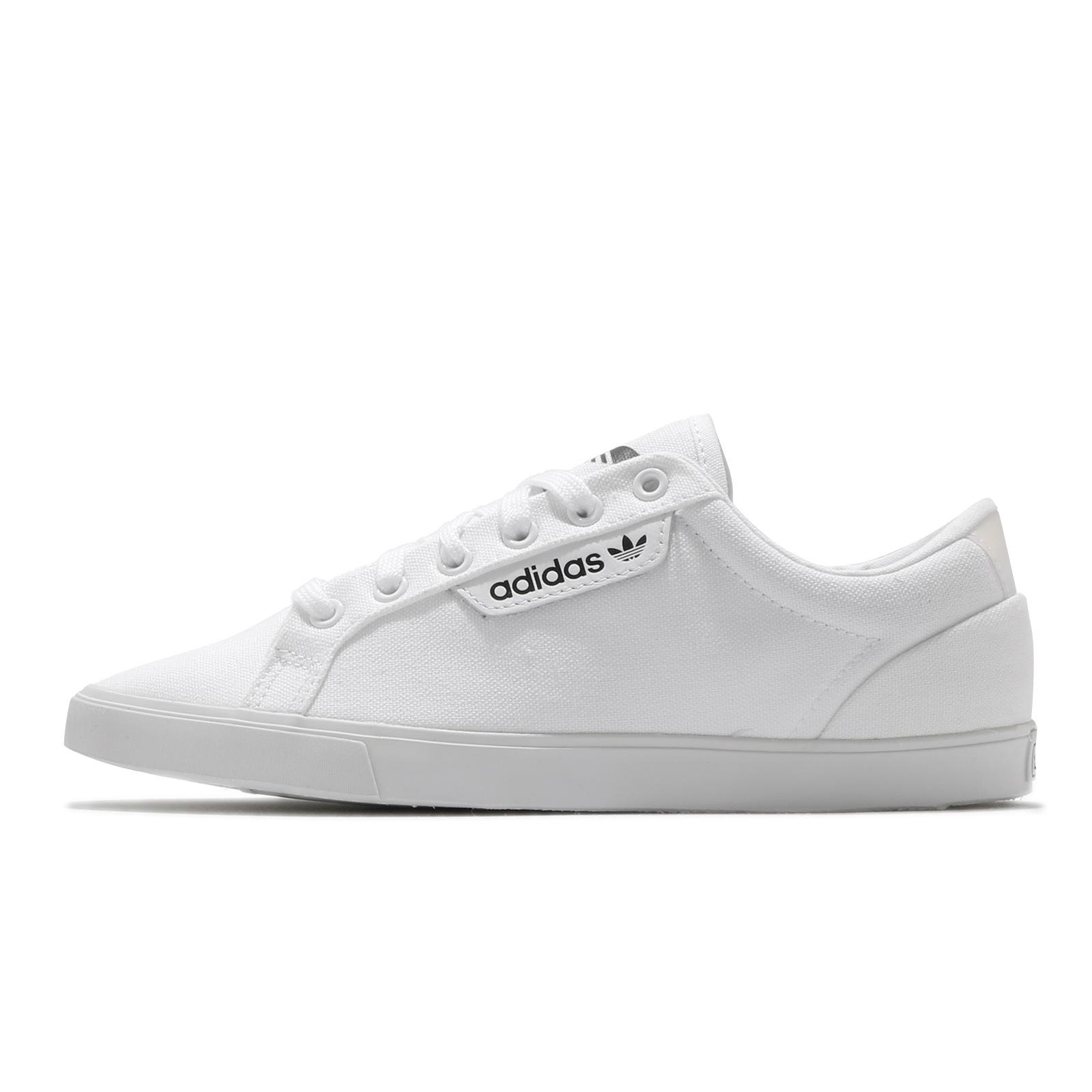 adidas 休閒鞋 Sleek Lo 白 黑 女鞋 帆布 小白鞋 三葉草 愛迪達 【ACS】 FV0742