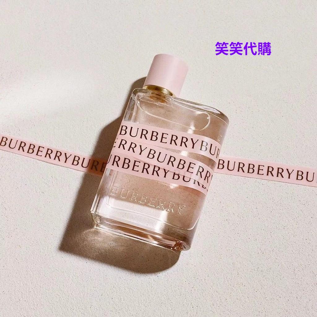 笑笑代購URBERRY/博柏利巴宝莉HER 2018新款巴宝莉香水花与她香水100ml