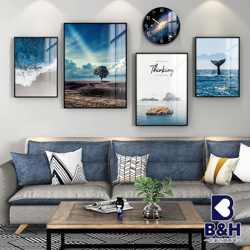 超贊超值現代簡約客廳裝飾畫沙發背景墻掛畫餐廳輕奢大氣北歐風格墻面壁畫高性價比