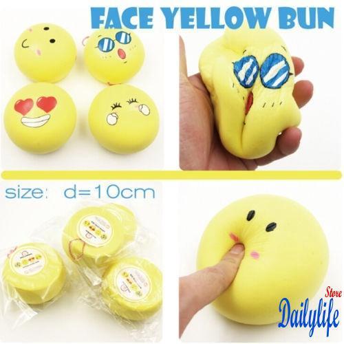 AIX-Fashion Fun Ease抑製表情符號慢反射表情包子球蓬鬆玩具