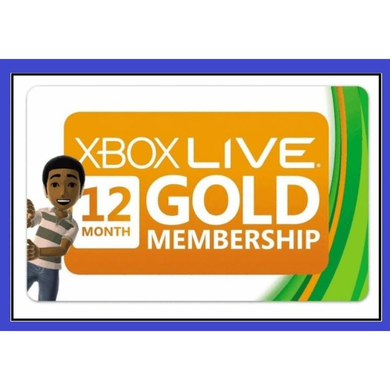 【Xbox Live Gold 12個月】Xbox 360 Xbox one 黃金會員 一年 黃金會員 金會員訂閱 年卡