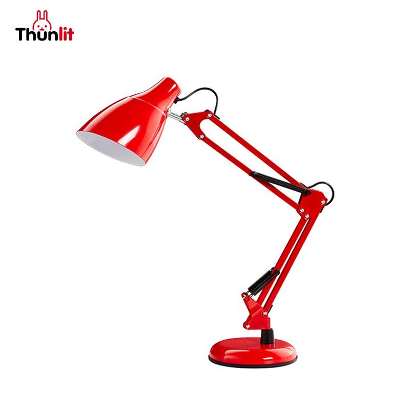 Thunlit紅色書桌檯燈 照射面積廣安全材料