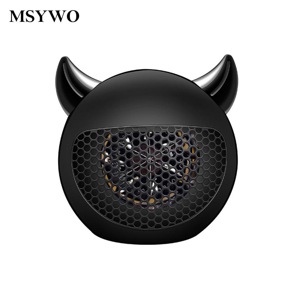msywo07小惡魔迷你暖風機400W-黑色  新