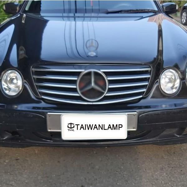 《珍藏小舖》客訂全新賓士BENZ W210 00 01 02年無框跑車式五線大星黑水箱罩台灣製