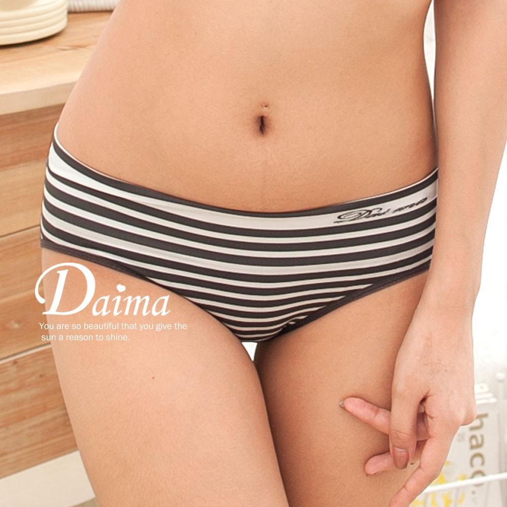 【黛瑪Daima】 MIT台灣製內褲 竹炭 超彈 中低腰 無縫褲 白 2312