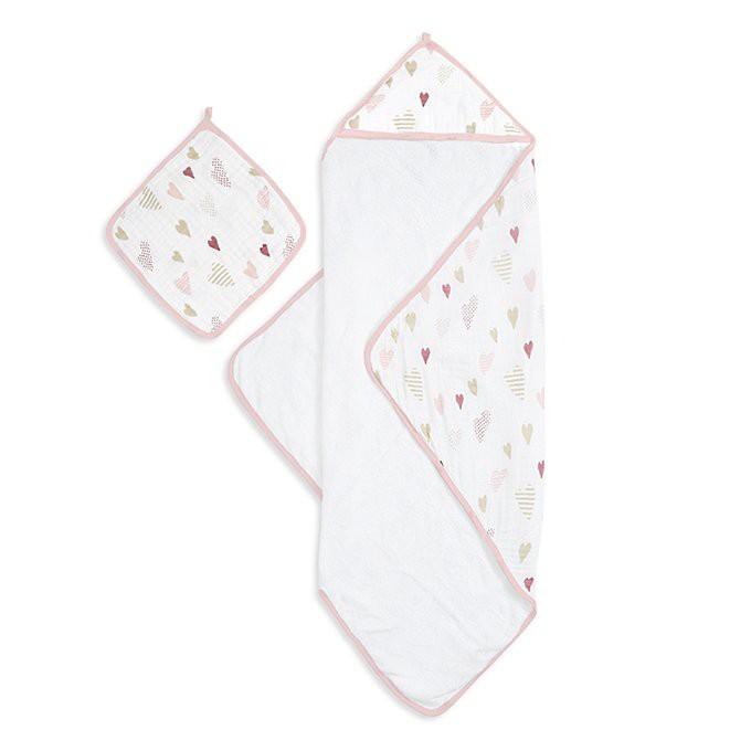 【衛立兒生活館】Aden & Anais 包巾-愛心點點ANA3200
