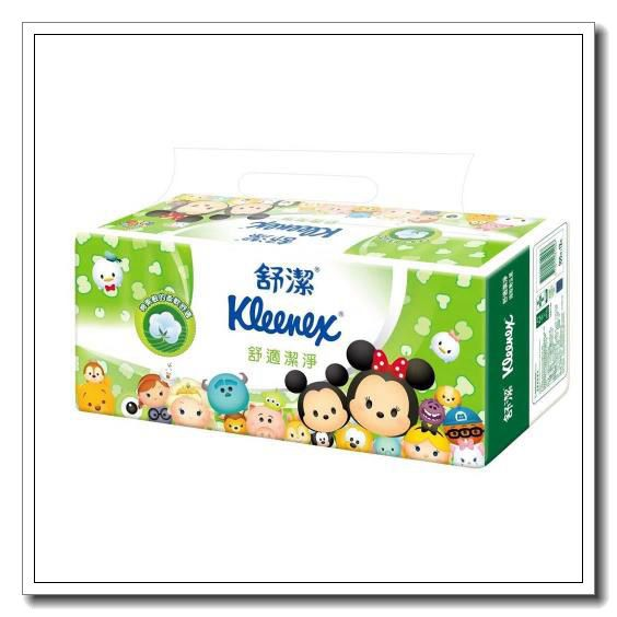 今日優惠【宅配免運】舒潔 迪士尼抽取衛生紙 Tsum Tsum限定版(100抽x72包/箱)