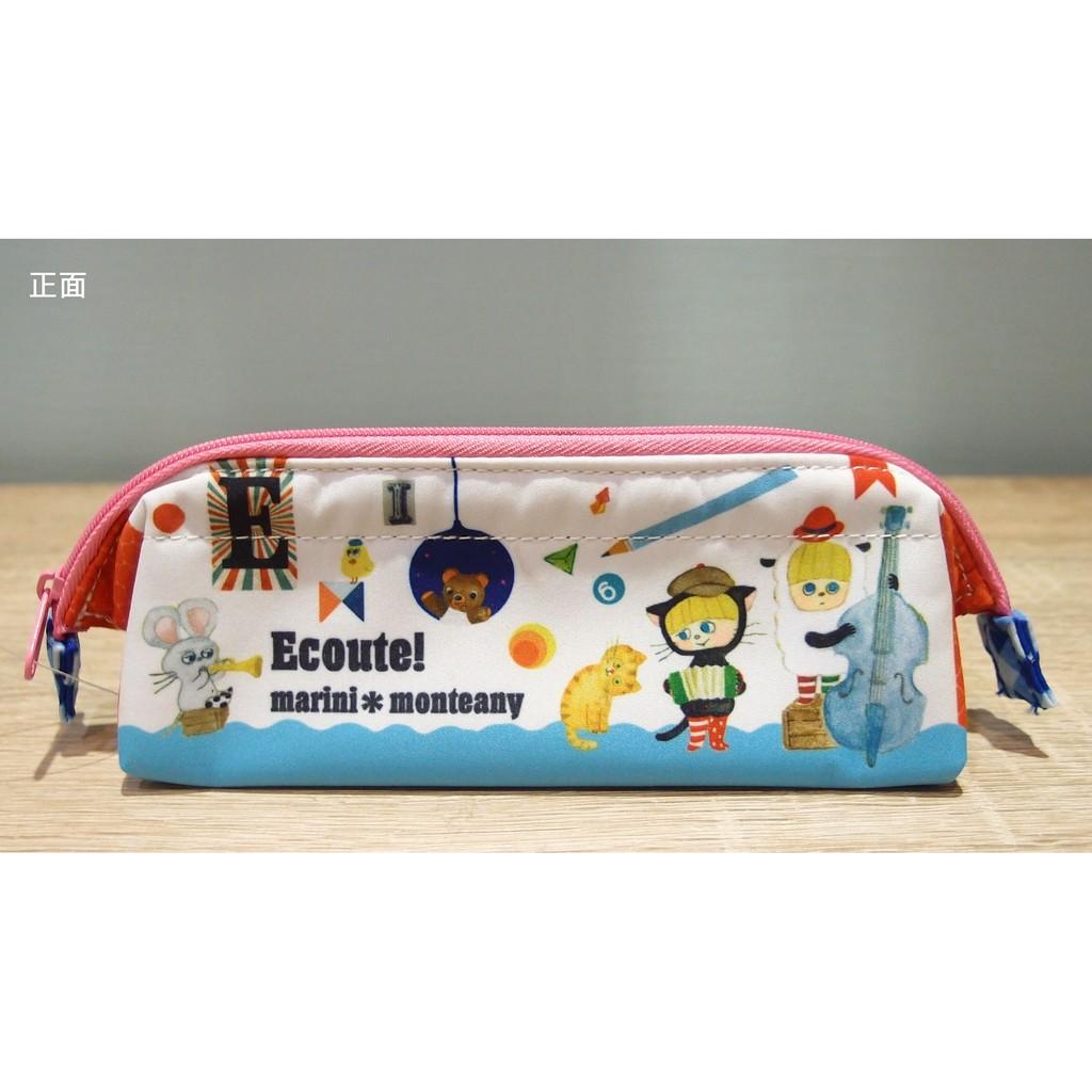 「 Ecoute 金屬內圈開口 筆袋 鉛筆袋 文具袋 音樂會 」★ Zammu日本雜貨