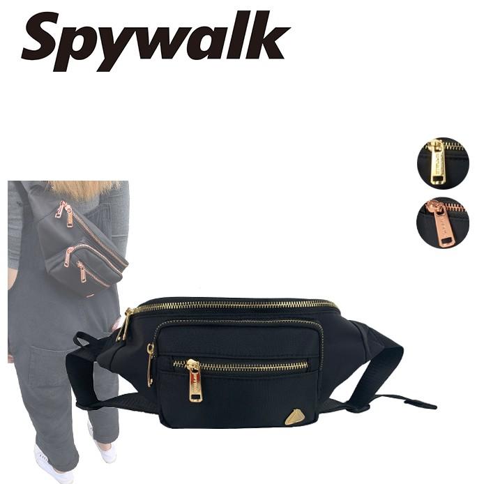 SPYWALK 潮流黑色腰包 NO:S8101