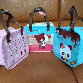 👍珍藏現貨👍 可愛 熊貓 牛津布 方型袋 便當袋 手提袋 小型行李袋 萬用袋 高雄市