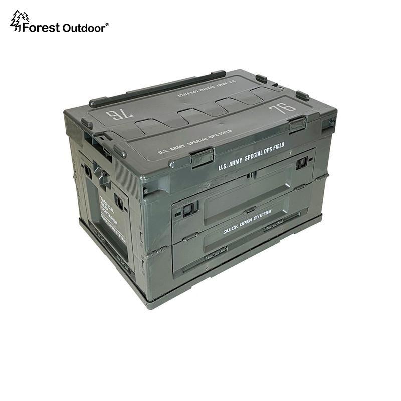 【Forest Outdoor】全球獨家美軍限定版 軍事風折疊側開收納箱 居家收納 生存遊戲 露營  IGT二單位
