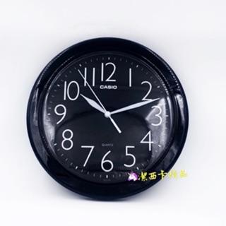 🦄潔西卡精品-日本 卡西歐 CASIO IQ-01S 黑色 圓形 掛鐘 黑底白字數字清晰 台北市