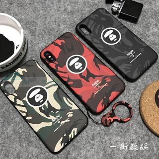 miyu716  潮牌迷彩Ape余文樂iphone7 plus手機殼蘋果6plus磨砂軟殼7情侶款X 臺北市