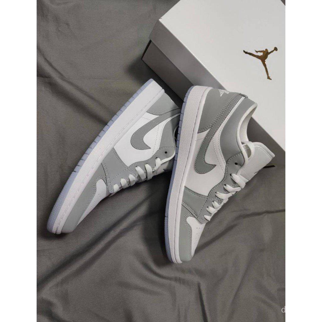『免運現貨』Air Jordan 1 Low灰白烟灰小Dior AJ1