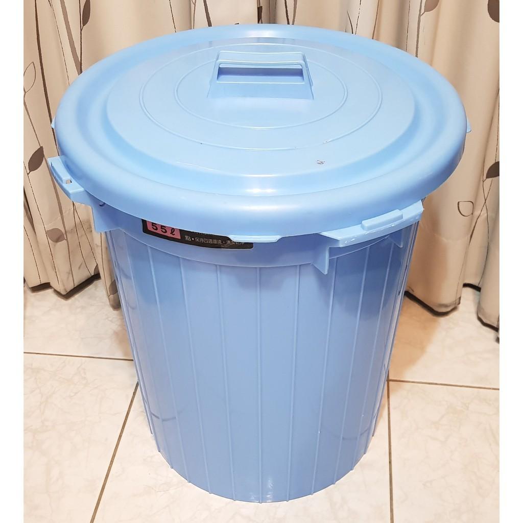 二手現貨 55L 環保桶 蓋子可以扣起來  萬用桶 儲物桶 儲水桶 垃圾桶 資源回收桶
