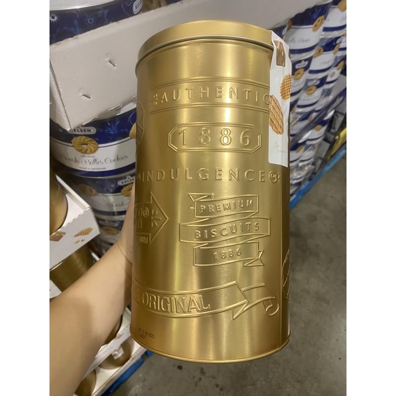 好市多代購代買 比利時綜合餅乾金罐475公克 下午茶點心、原裝進口、杏仁薄餅、奶油脆餅、格子鬆餅