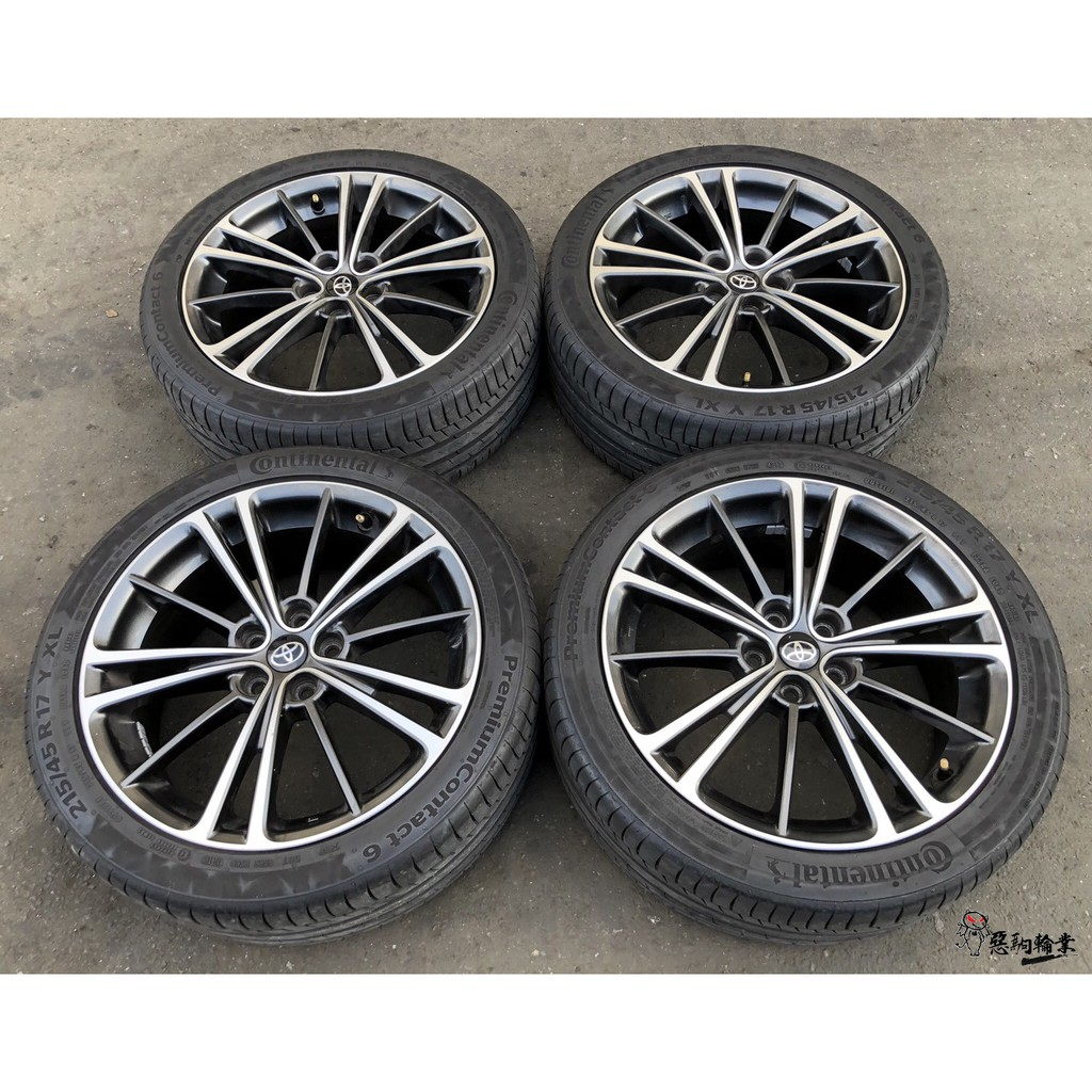 二手/中古鋁圈輪胎 原廠 豐田 GT 86 17吋 5孔100 灰 含胎 馬牌 215/45-17 WISH ALTIS