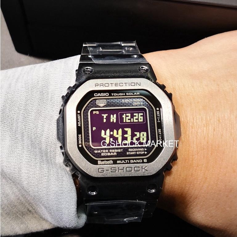 卡西歐CASIO男士g-shock手錶GMW-B5000V-1電波IP做舊處理限定方塊