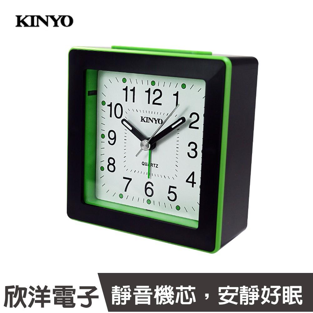 KINYO 時尚方形鬧鐘 (TB-715) 鬧鐘/時鐘/百搭/靜音/夜燈