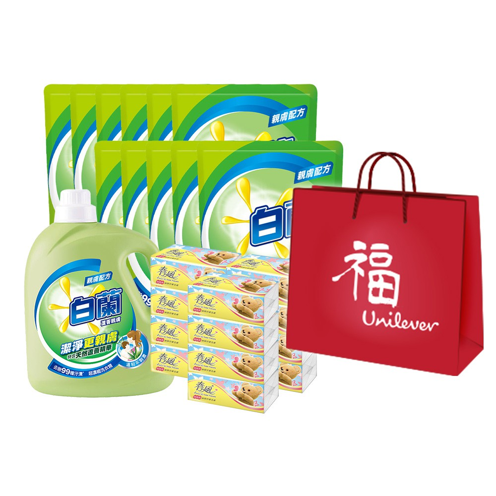 白蘭 爆殺1+11件組洗衣精(蘆薈親膚) x1瓶+補充包x11包 (贈衛生紙12包)效期至2021/08/15