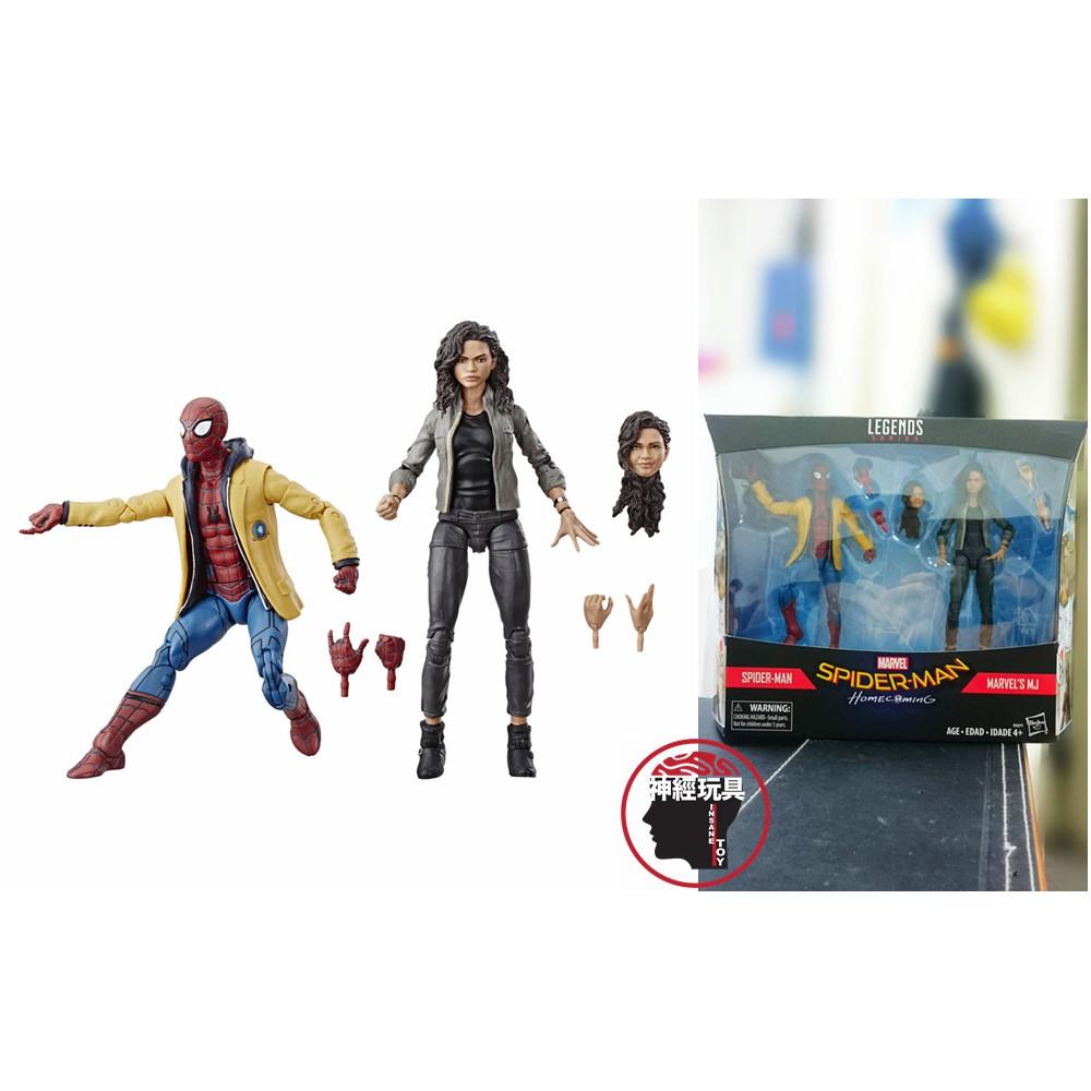 【神經玩具】現貨 Marvel Legends 蜘蛛人:返校日 蜘蛛人 + MJ 雙人組 6吋 孩之寶 漫威傳奇